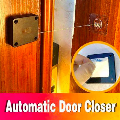 Retractable Automatic Door Closer Portable Home Office Doors