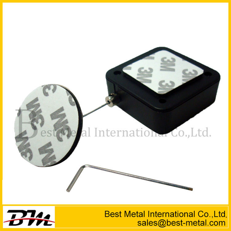 Round Anti-Theft Security Tether Steel Cable Retractable Pull Reel Box With Lasso