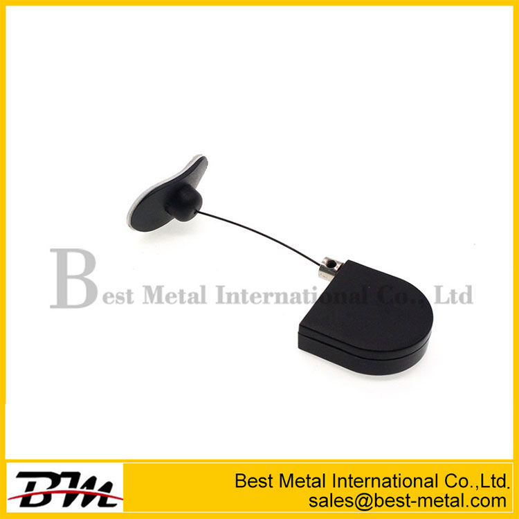Security Retractable Cable Tether For Cosmetics Display Anti-Theft Pull Box