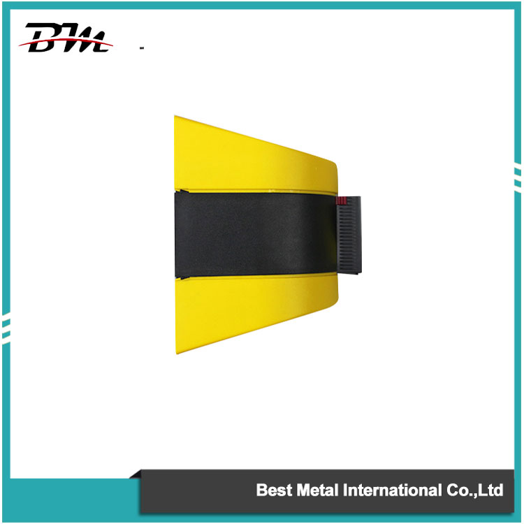 5M Magnetic Wall Mounted Retractable Belt Barrier For Warehouse