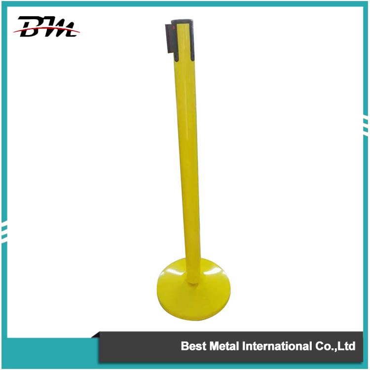 Coating Yellow Retractable Belt Barrier