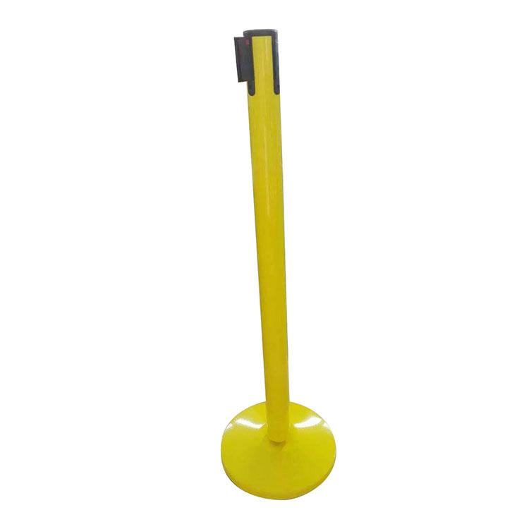 Coating Yellow Retractable Belt Barrier