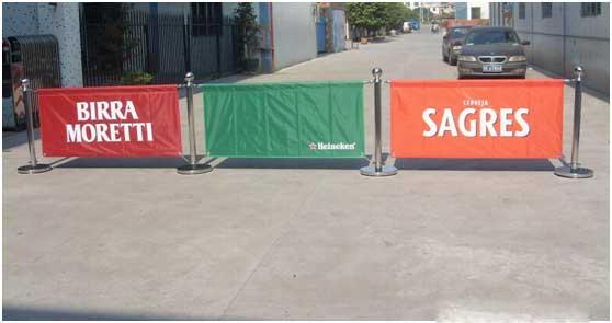 Outdoor Advertising Banner Cafe Barrier
