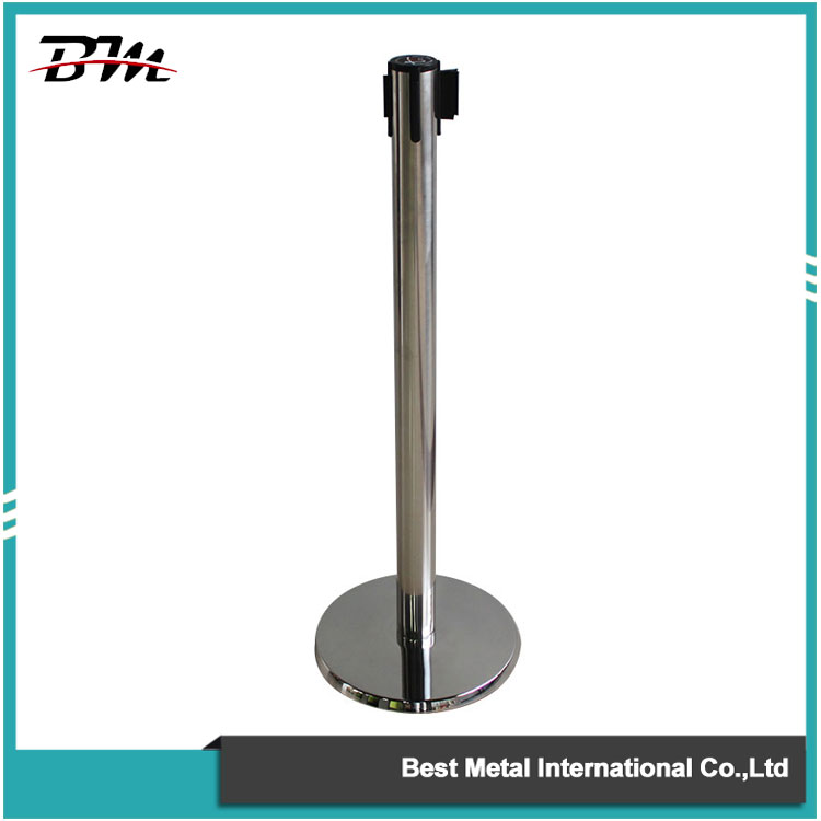Polished Retractable Belt Stanchion