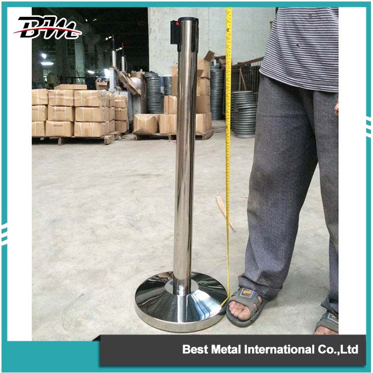 Silver Crowd Control Stanchion
