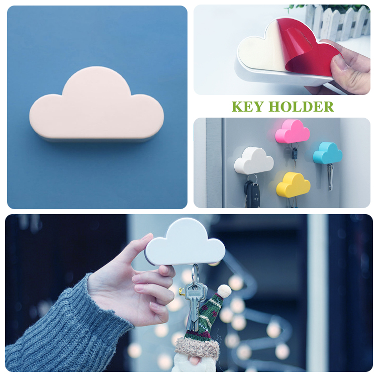 Magnetic Cloud Key Holder For Wall