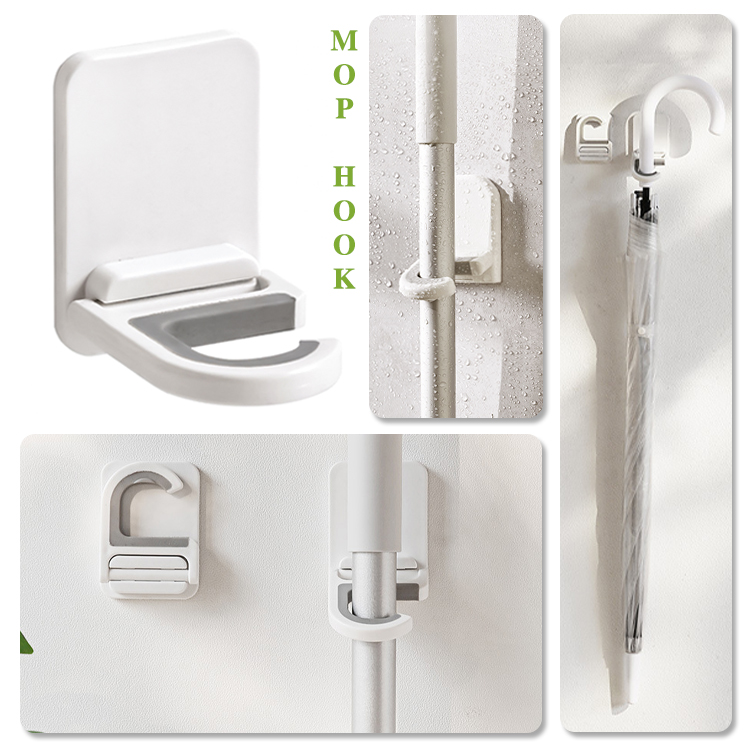 Wall Mounted C-Type Mop And Broom Hook