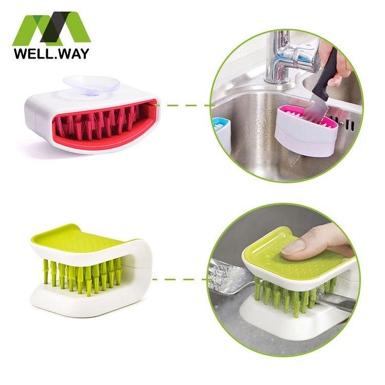 Cutlery cleaning brush