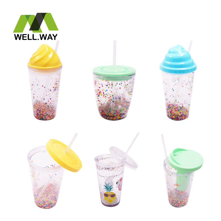 Home drinking cup with straw