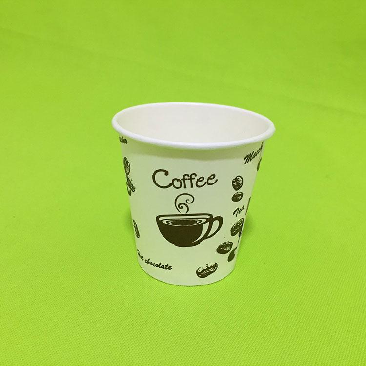 100%の生分解性の使い捨て可能な単一の壁のコーヒー紙コップ