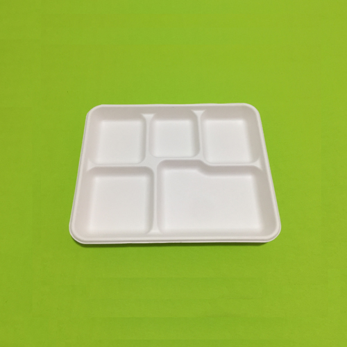 Biodegradable 5 Compartment Trays