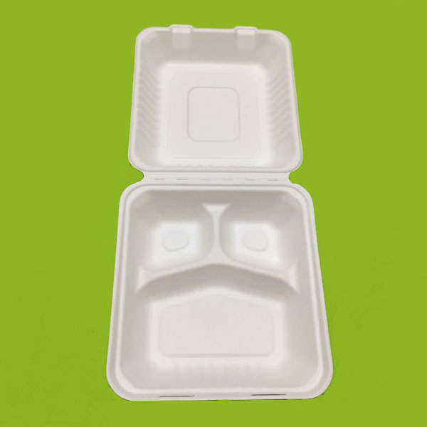 Bionedbrydeligt 8inch Food Clamshell Box