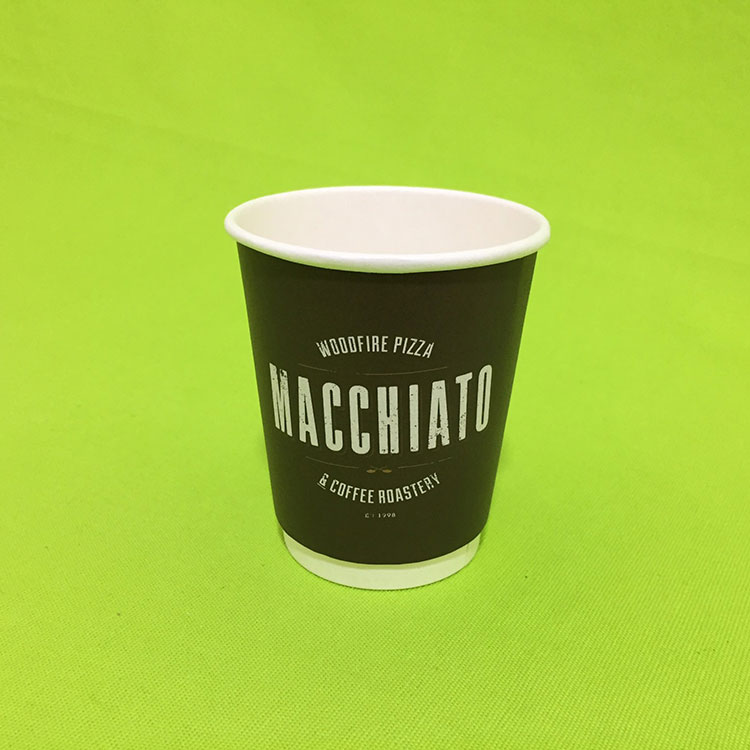 Customized Logo Paper Double Wall Coffee Cup Sheet With Thicken Paper