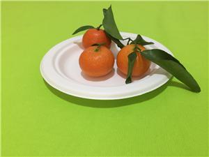 Pláta Laíon Bagasse 6 orlach indiúscartha