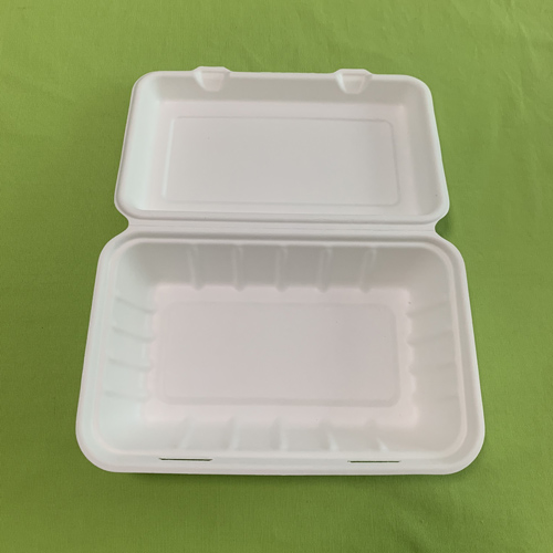 Eco bagasse paper clamshell boxes