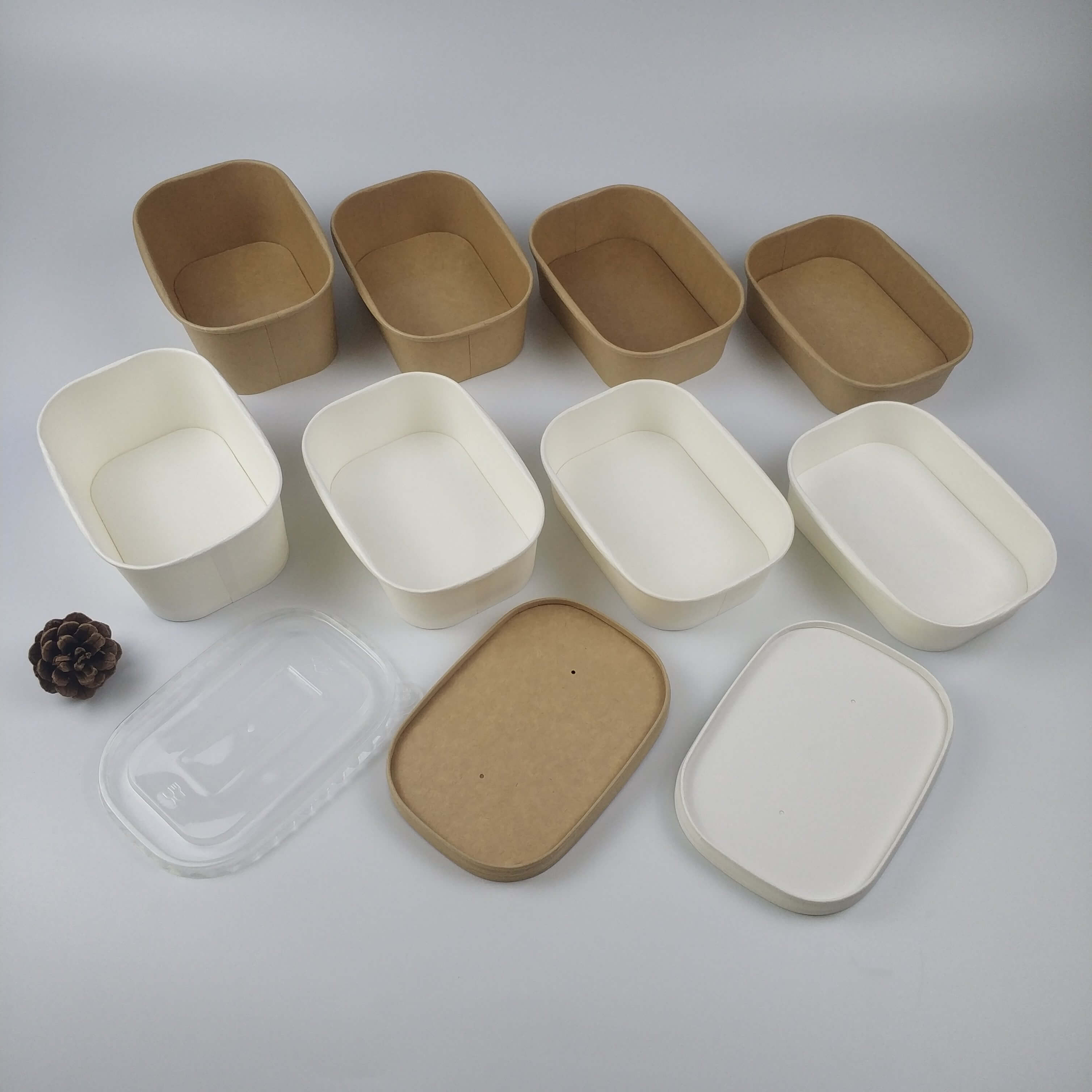 Rectangle Paper Bowl Salad Bowls Paper Food Container
