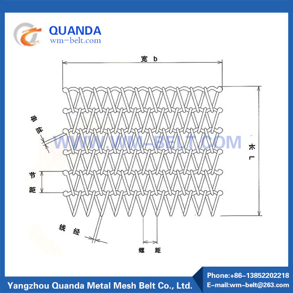 Mesh belt for powder metallurgy industry