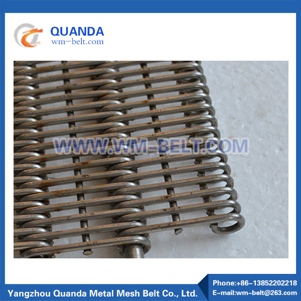 Metal conveyor mesh belt