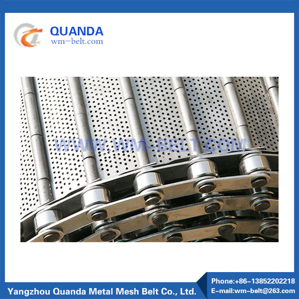 Slat chain conveyor belt