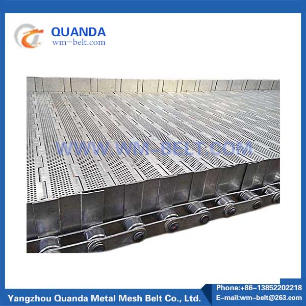 Stainless steel plate conveyor belt