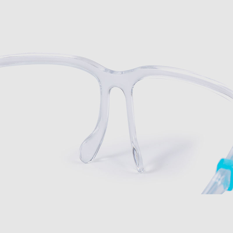 Anti Splash Clear Transparent Protection Face Shield With Glasses Frame