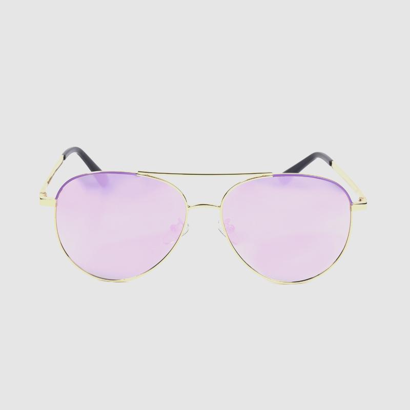 Double Bridge Pilot Polar Polarized Titanium Frame Sunglasses