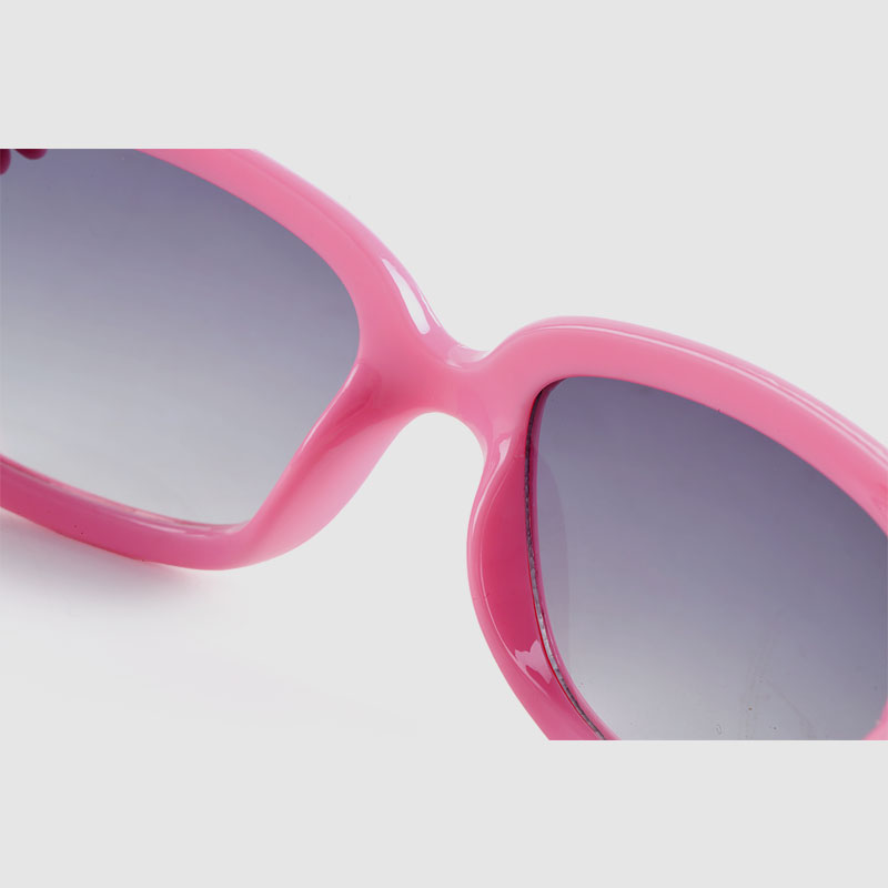 Kids Basic Plastic Sunglasses With Flowers On Frame