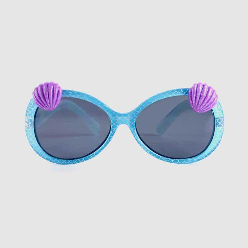 Kids Basic Plastic Sunglasses With Shell On Frame