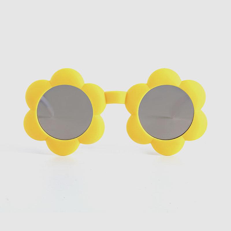 Kids Flower Plastic Frame Sunglasses