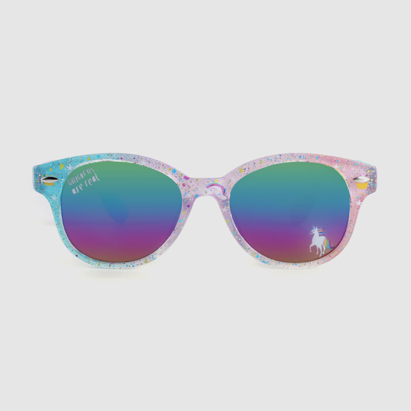 Kids Rainbow Sunglasses With Rainbow Mirror Lens