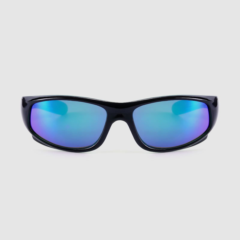 Kids Sporty Sunglasses With Color Mirror Lens