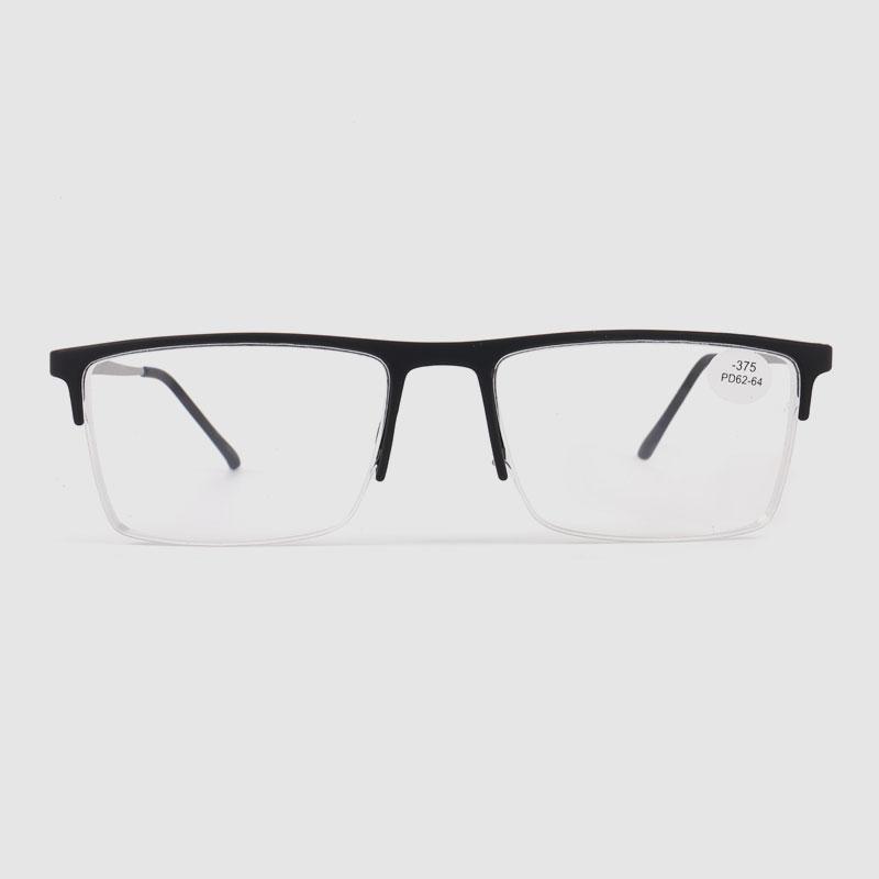 Men's Black Half Frame Optics Glasses
