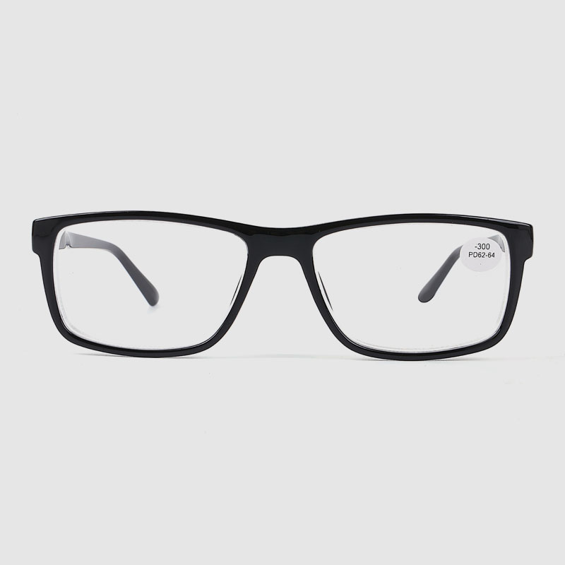 Men's Black Square Optical Glasses