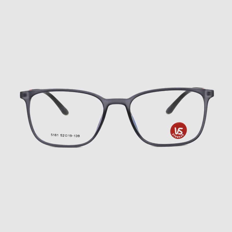 Čtvercový průhledný oční optický rámeček Anti Blue Light PC