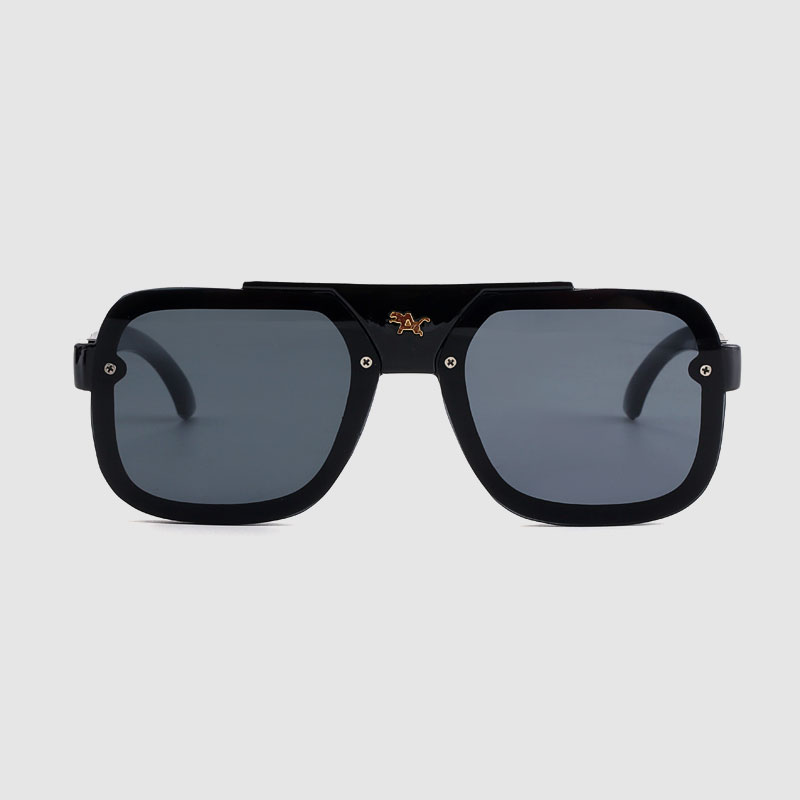 Plastic Frameless With Color Mirror Lens Promotial Sunglasses