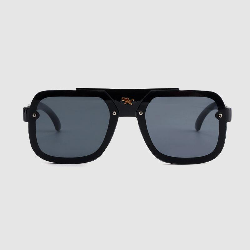 Пластиковые солнцезащитные очки без оправы с цветными зеркальными линзами