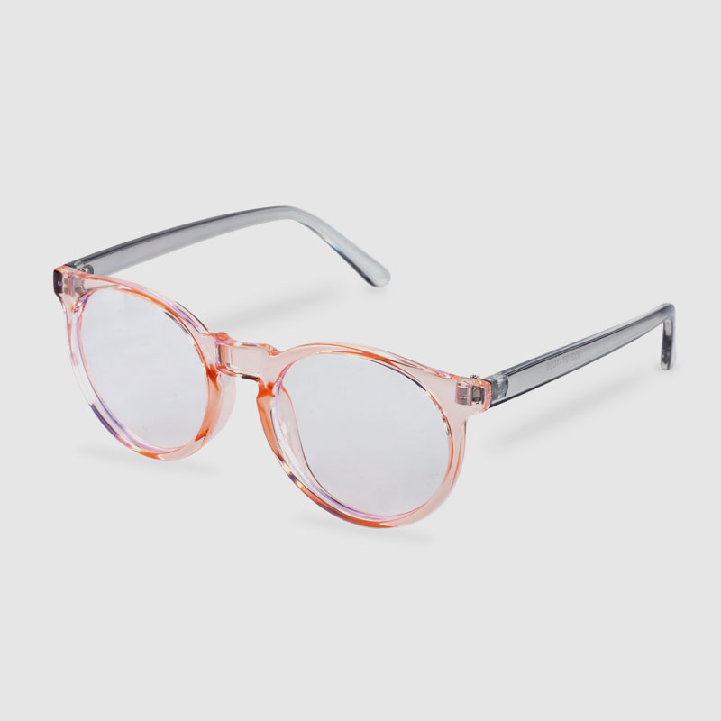 Transparent Two Tone Optical Frame Pink