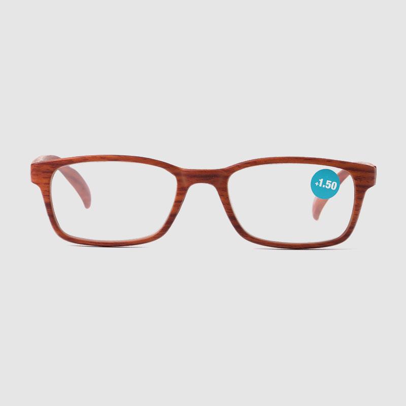 Unique Wood Grain Design Custom Logo Reading Glasses