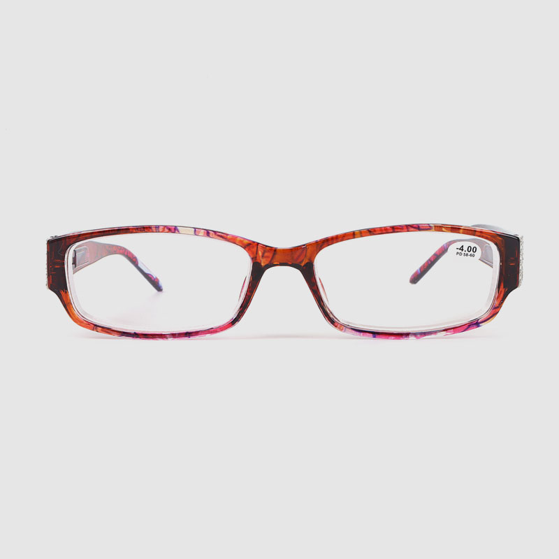 Women Retro Rhinestone Optical Frame With Spring