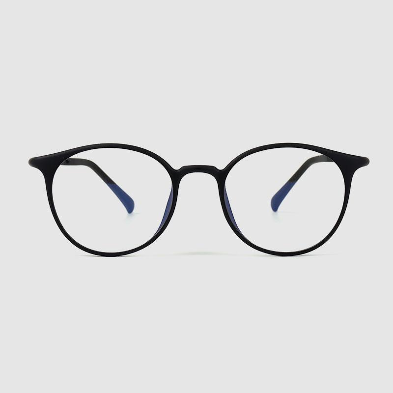 Naisten siniset vaaleat pyöreät lasit
