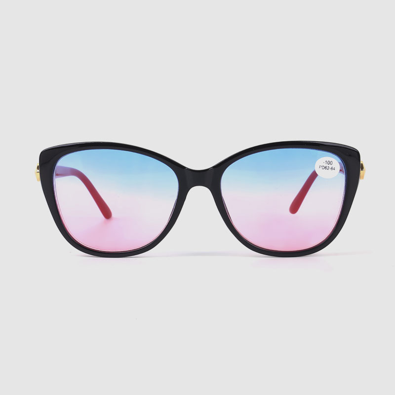 Women's Cat Eye Optical Frame With Colorful Mirror Lens