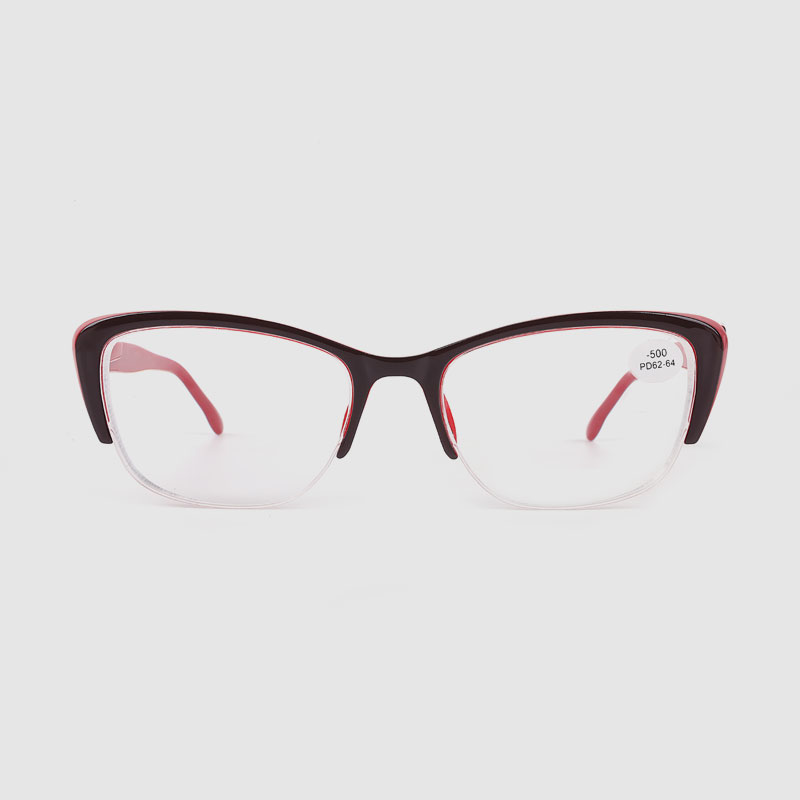 Dámské dvoubarevné optické brýle s polorámovým rámečkem