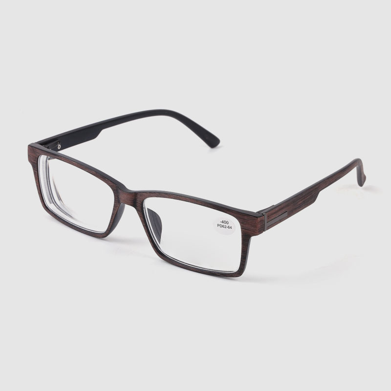 Wood Grain Men's Square Optical Glasses