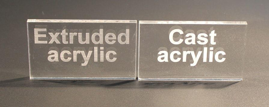 Cast acrylic versus extruded acrylic