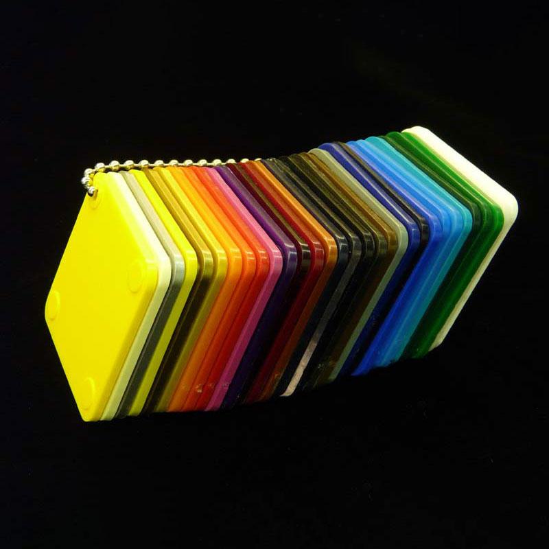 Hoja de plexiglás de color para hacer muebles