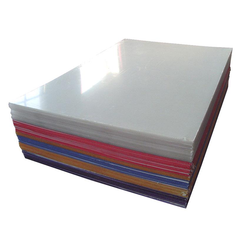 Lastra acrilica colata trasparente di materiali vergini