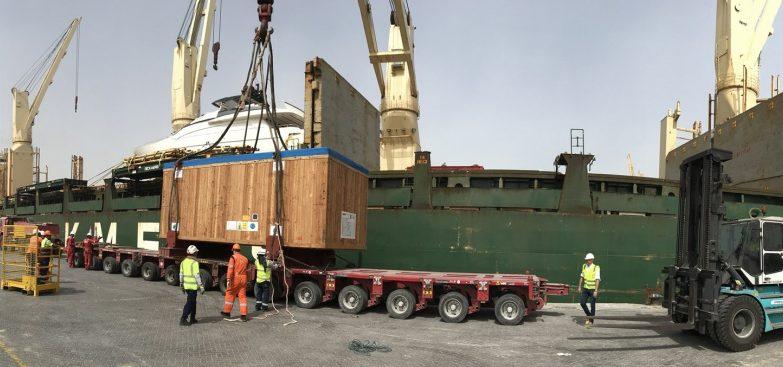 MS-SPEED आपूर्ति श्रृंखला के लिए भारी कार्गो परिवहन