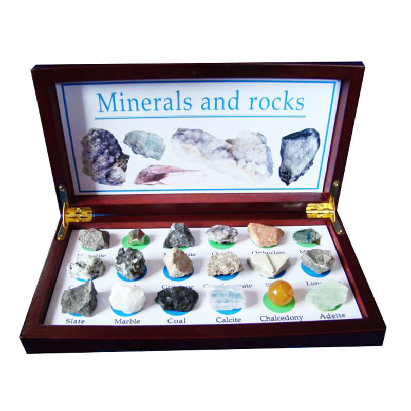 18PCS Mineral And Rocks Specimen