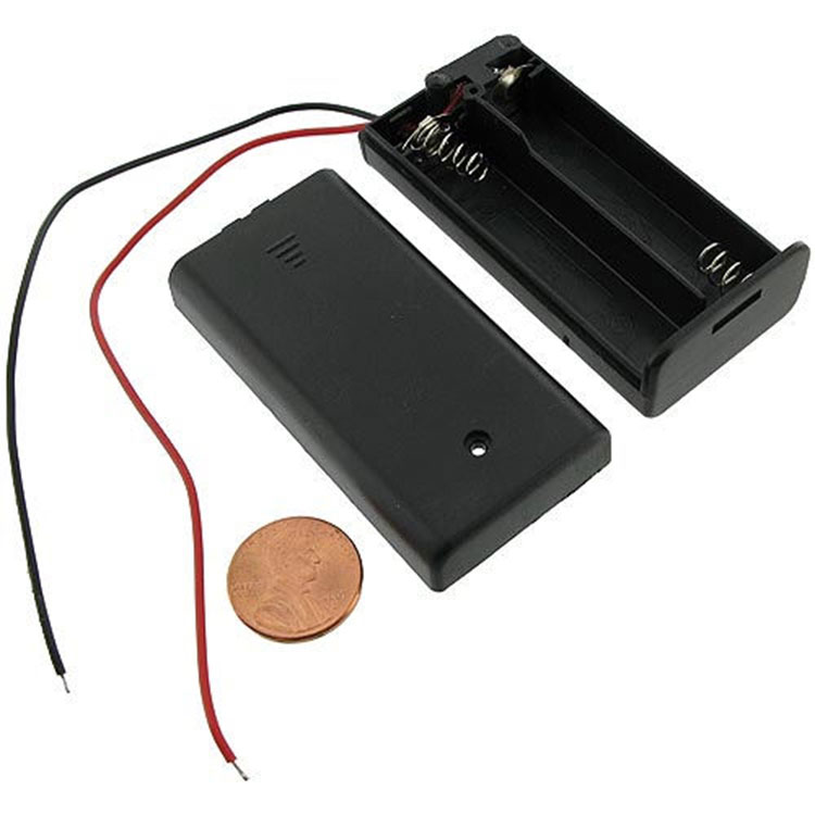 2xAA Battery Holder with Cover