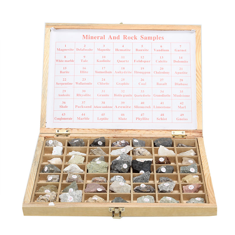 49PCS Specimen Of Mineral And Rock Samples